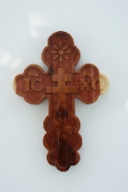 CrossCrafter.com aromatic cedar wall cross