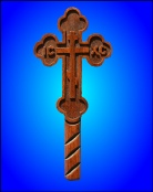 Blessing cross budded 3 bar
